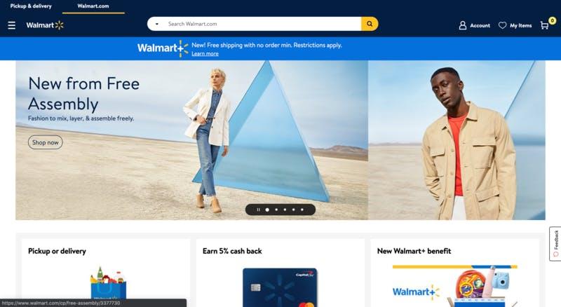 ▲[Walmart公式ウェブサイト]:訪日ラボ編集部キャプチャ