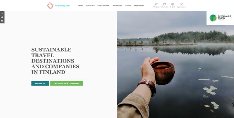 ▲[VisitFinland.comの持続可能な旅行目的地と企業に関する紹介]:編集部キャプチャ