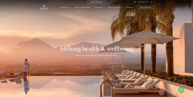 ▲[SHA Wellness Clinic 公式サイト]:編集部スクリーンショット