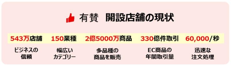 CHINA YOUZAN(有賛)開設店舗の現状