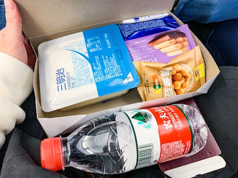 中国国際航空の便の機内食