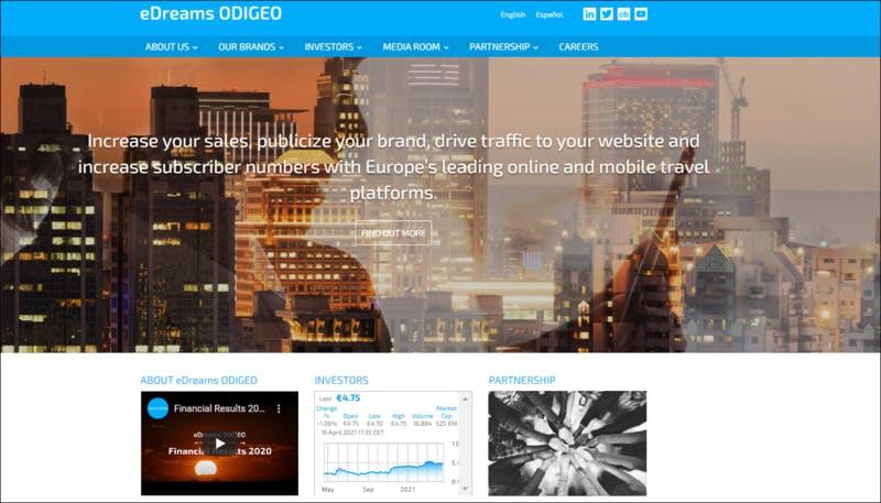 eDreams ODIGEO公式TOPページ