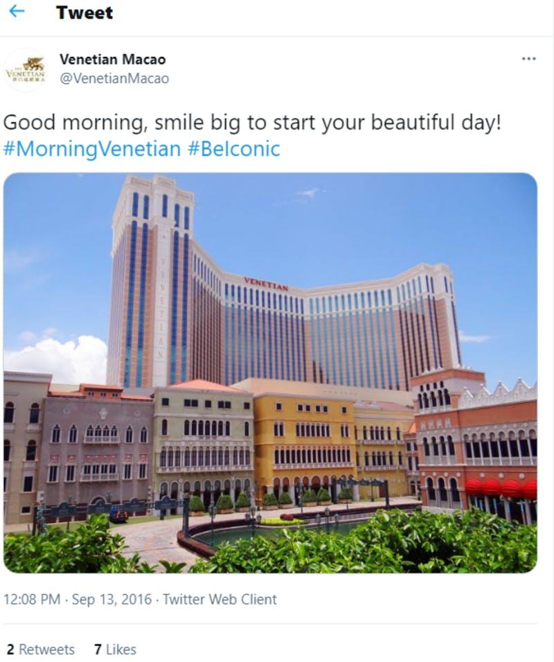 ▲The Venetian Macaoの外観