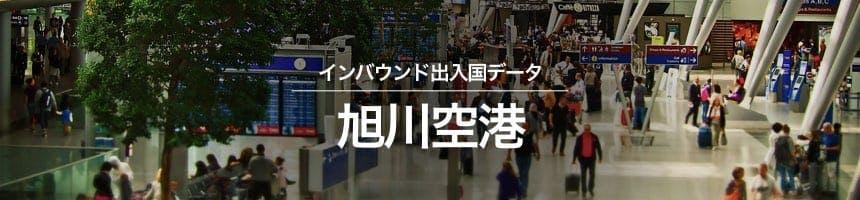 旭川空港の出入国外国人数画像