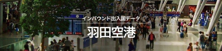 羽田空港の出入国外国人数画像