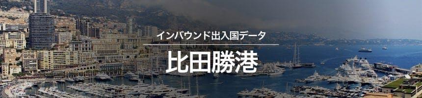 比田勝港の出入国外国人数画像