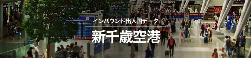 新千歳空港の出入国外国人数画像