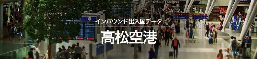 高松空港の出入国外国人数画像