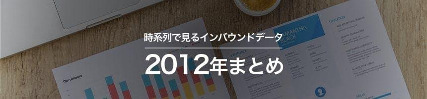 2012年の時系列・トレンドで見るインバウンドデータ画像