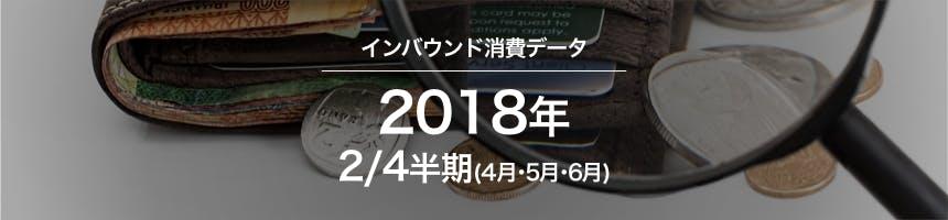 2018年2/4半期(4月・5月・6月)のインバウンド消費データ(訪日外国人消費動向)画像